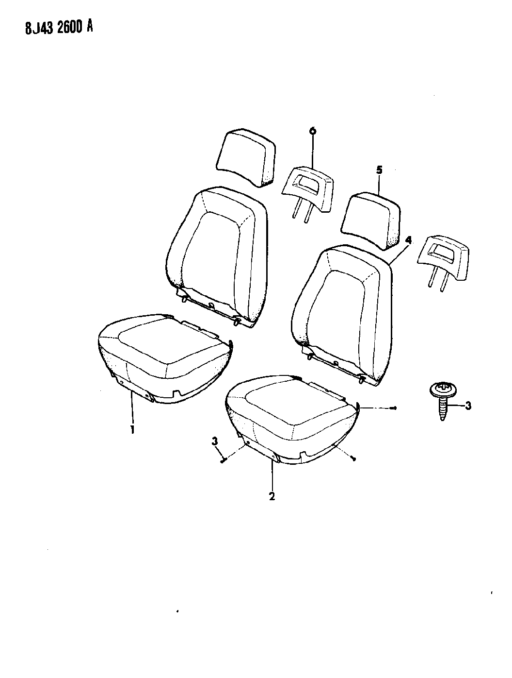1988 Jeep Comanche Covers, Seat Upholstery Bucket Seats