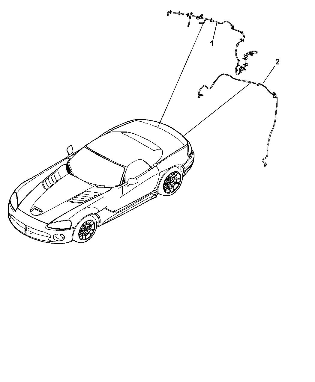 2008 Dodge Viper Wiring Door, Deck Lid, And Liftgate