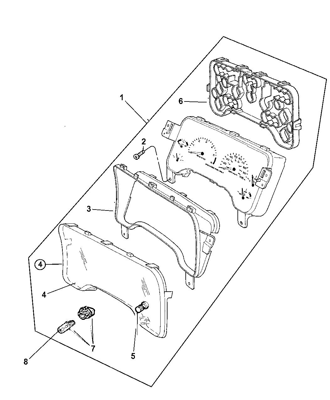 Jeep Wrangler Instrument Cluster