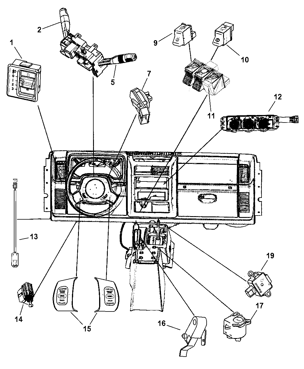 Jeep Wrangler Switches