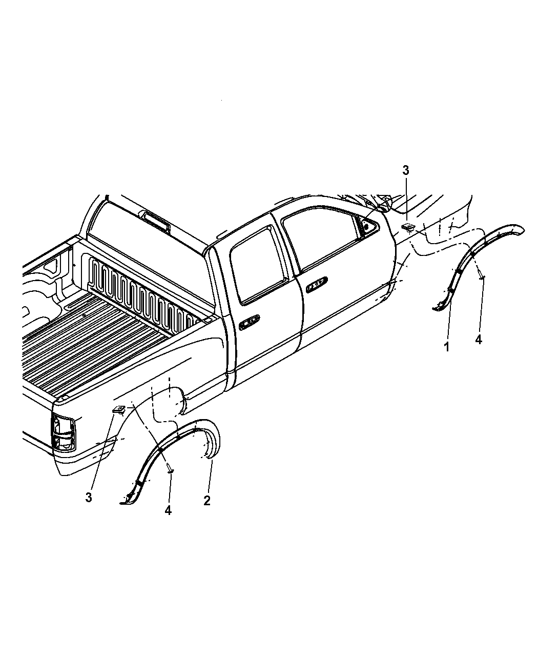 Dodge Ram Molding