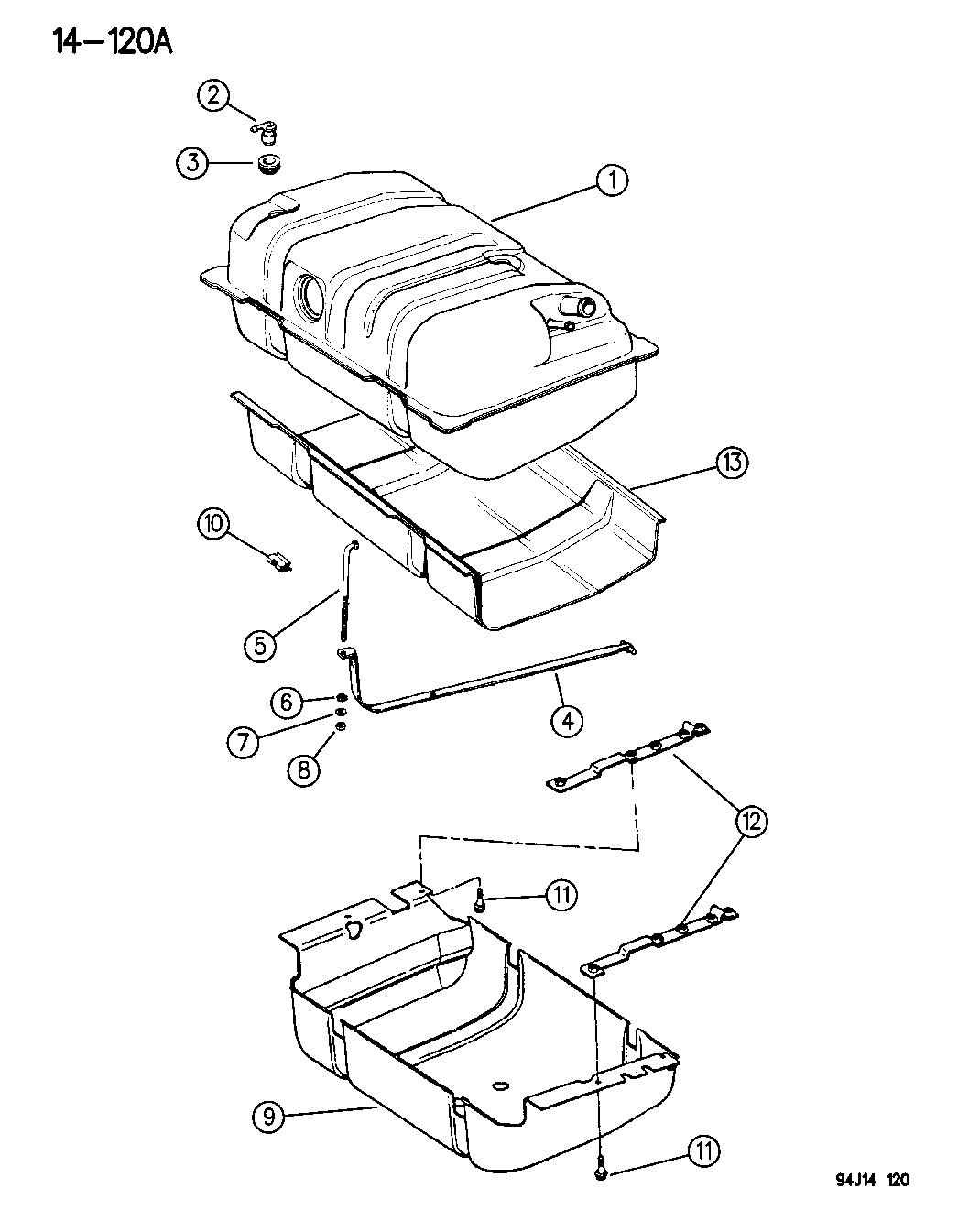 Jeep Cherokee Fuel Tank