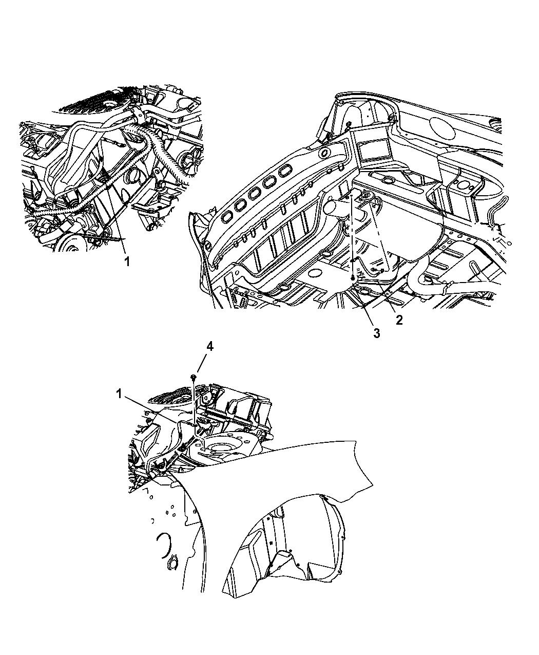 2004 Chrysler Sebring Sedan & Convertible Ground Straps-Engine