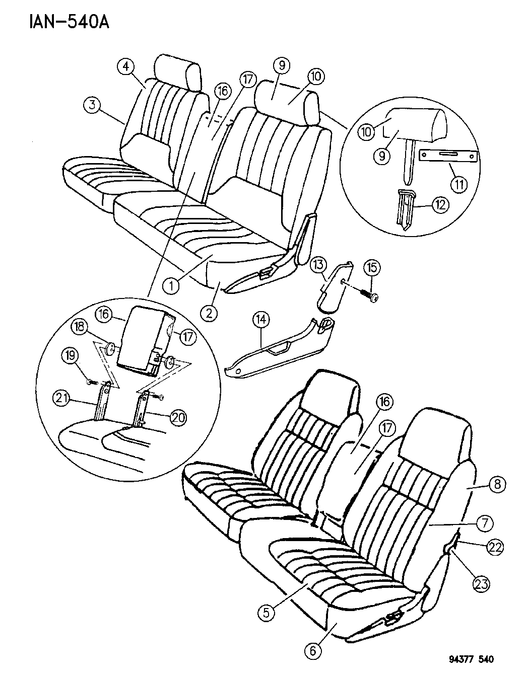 Dodge Dakota Seat