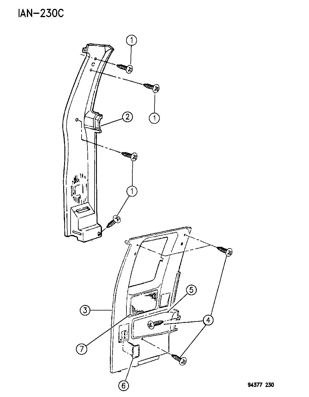 Dodge Dakota B Pillar Trim