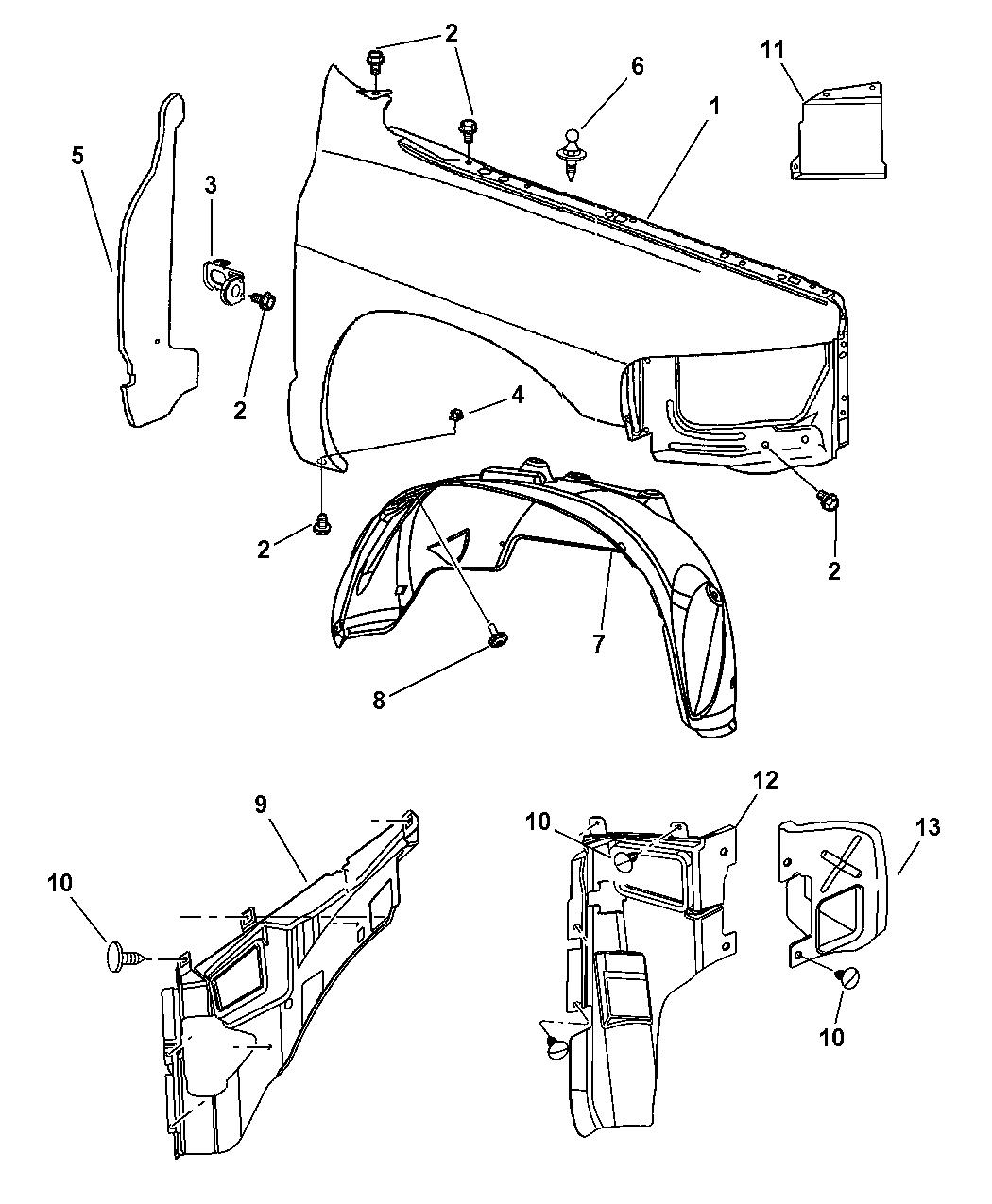 Dodge Ram Front Fender