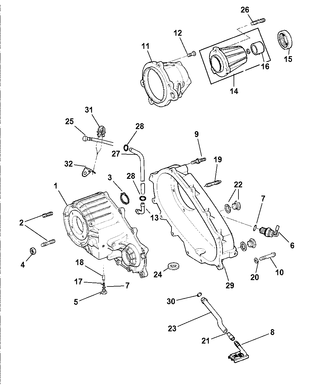 1997 Dodge Dakota Case & Related Parts of Transfer Case Model