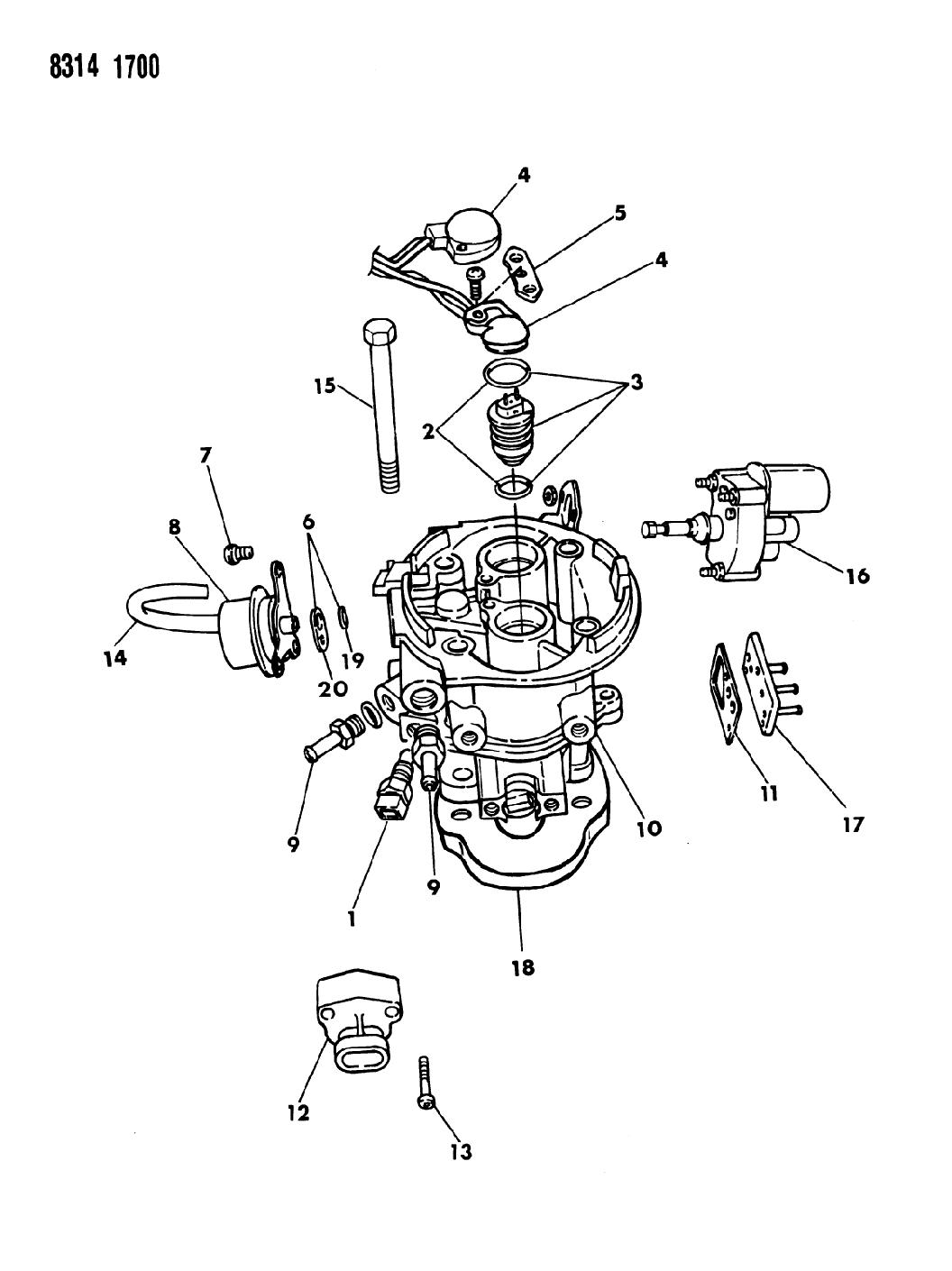 Dodge Ram Van Throttle Body