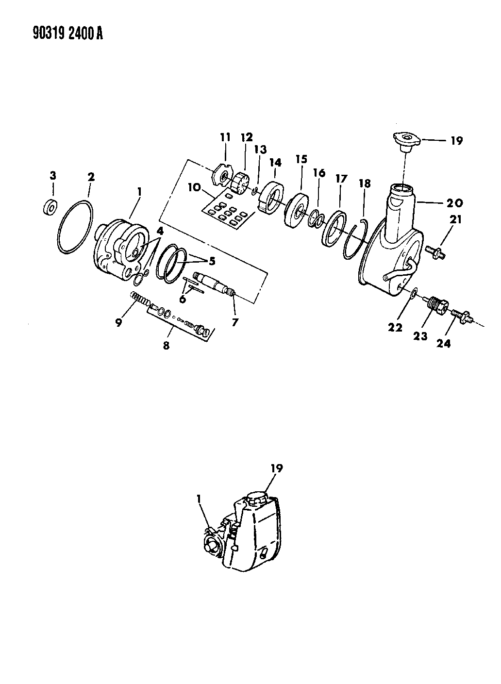 1991 Dodge Dakota Power Steering Pump & Attaching Parts
