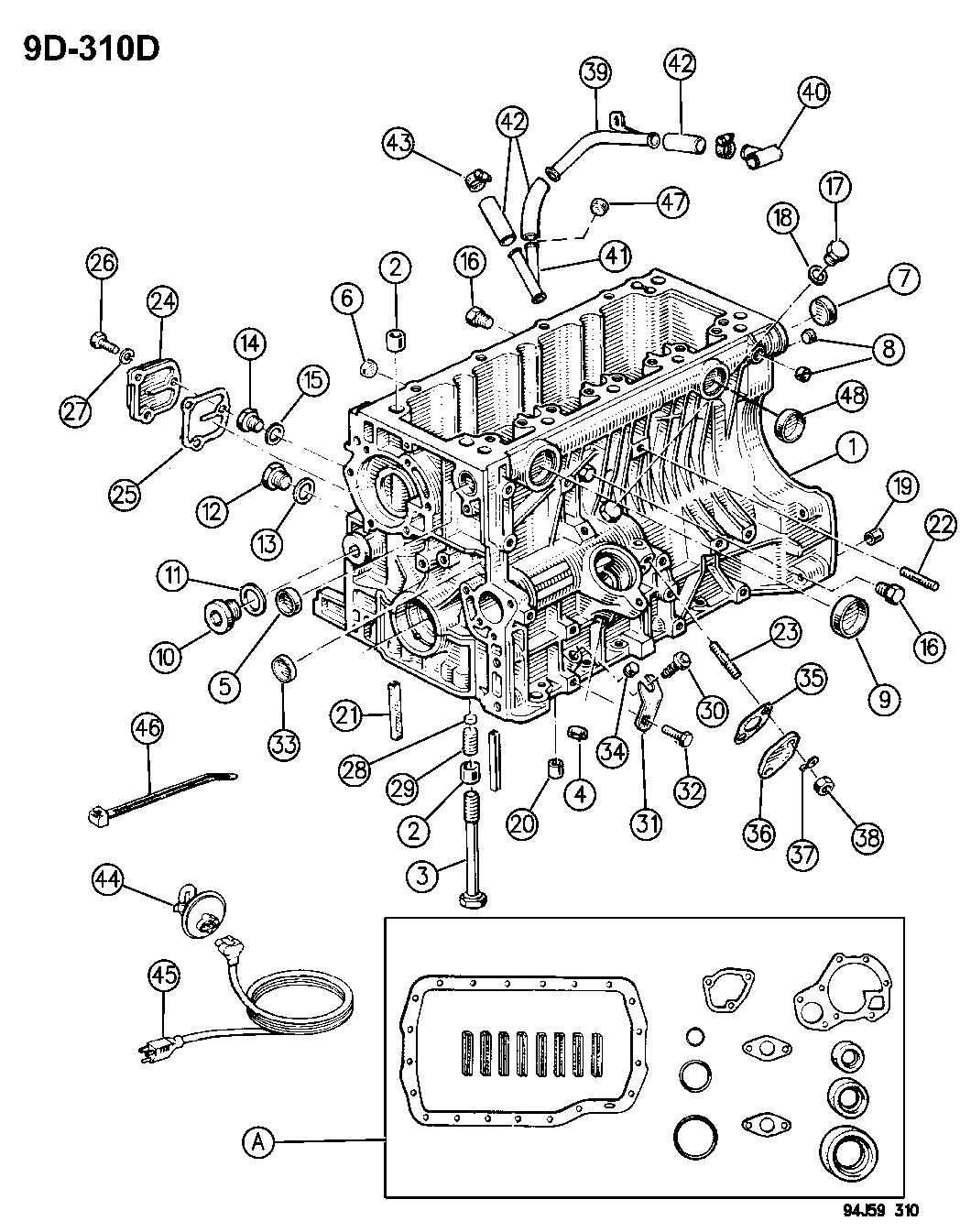 Jeep Cherokee Cylinder Block