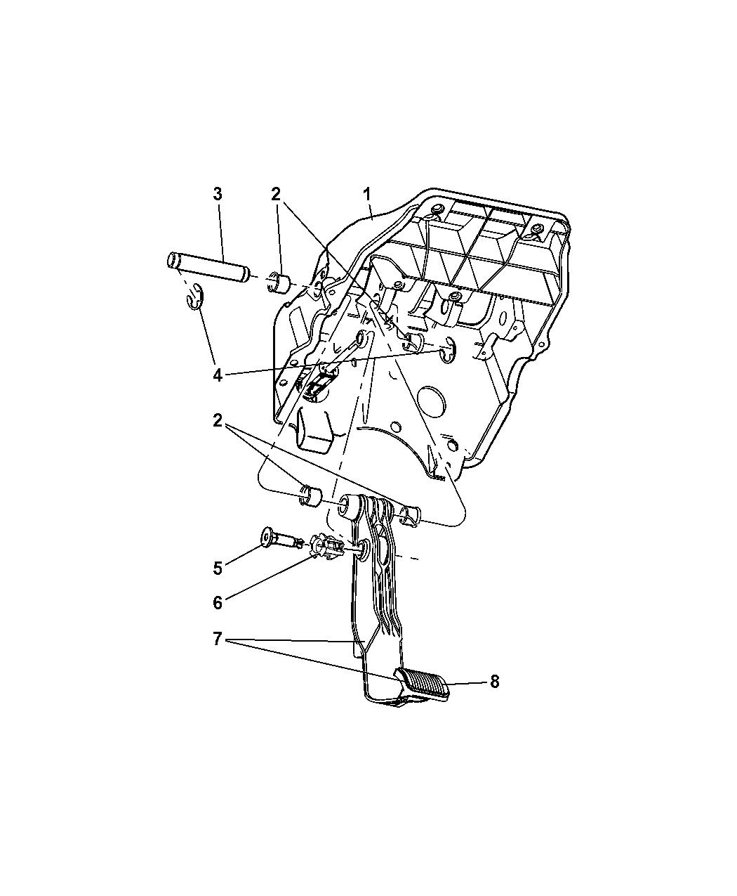 Dodge Ram Clutch Pedal