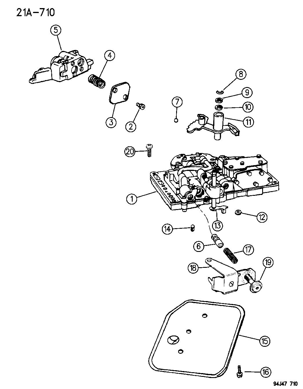 1994 Jeep Wrangler Valve Body & Electronic Control