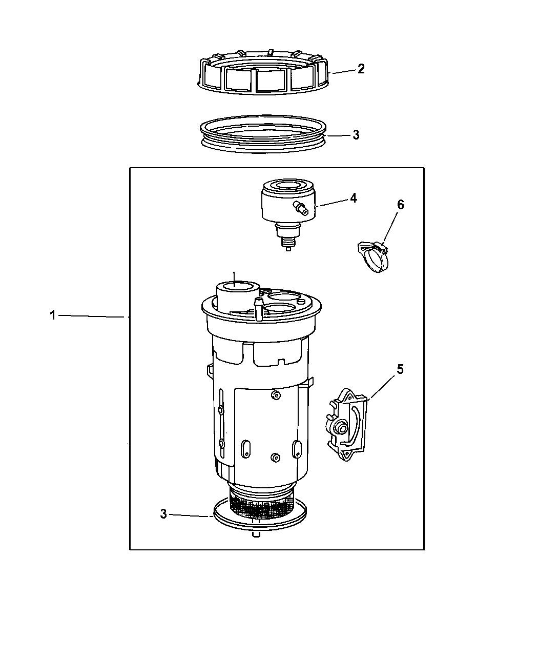 Jeep Grand Cherokee Fuel Module