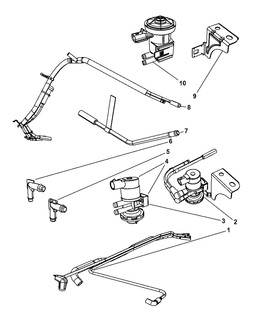 2003 Dodge Ram 1500 Emission Control Vacuum Harness