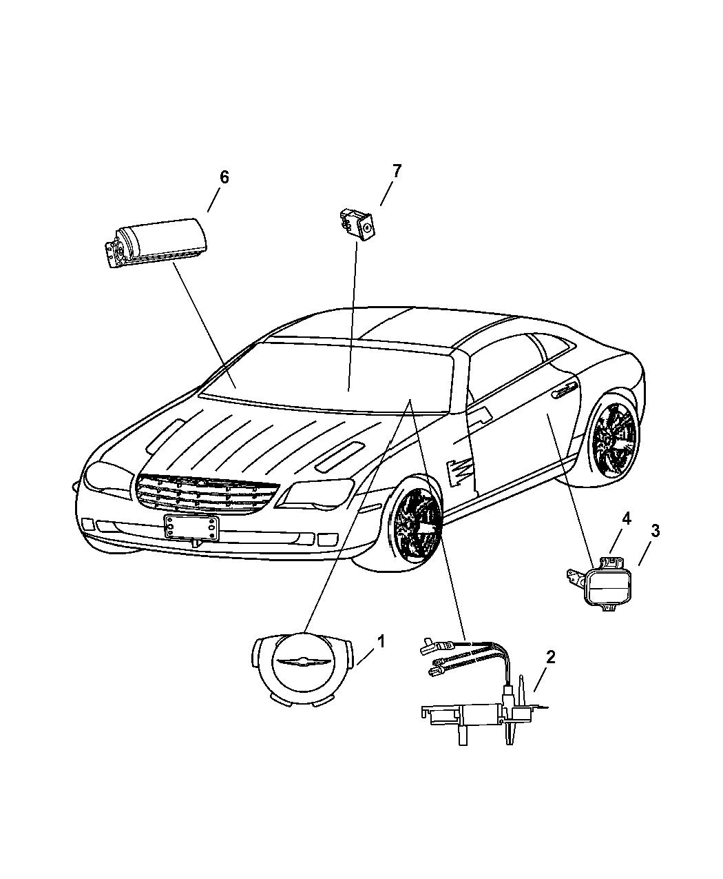 2007 Chrysler Crossfire Air Bags & Clock Spring