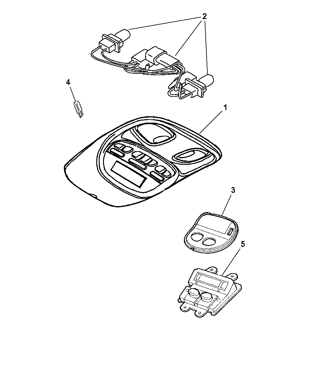 Dodge Durango Overhead Console