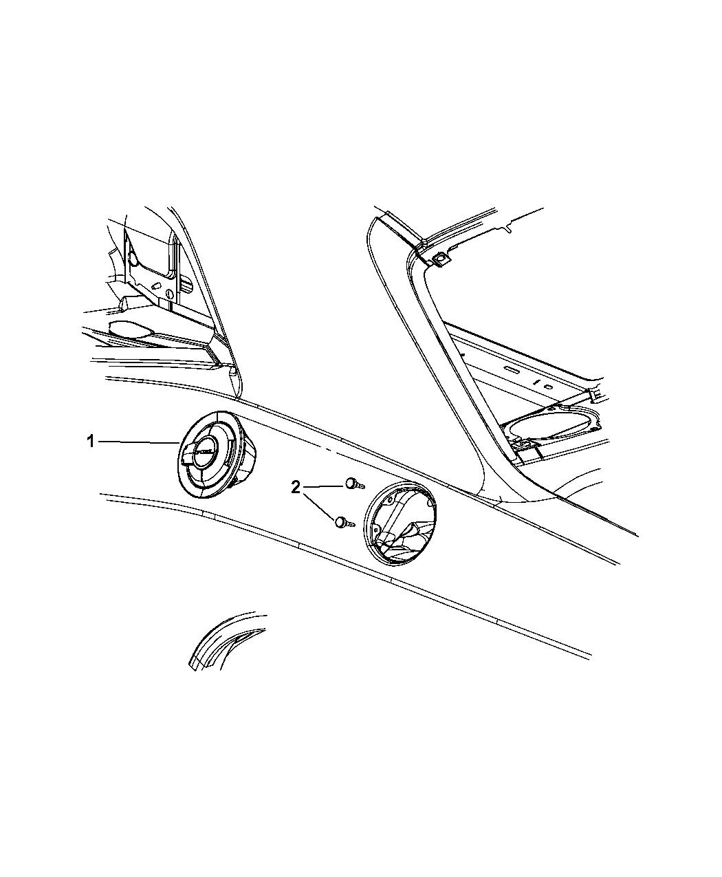 Dodge Challenger Fuel Filler Housing Amp Door