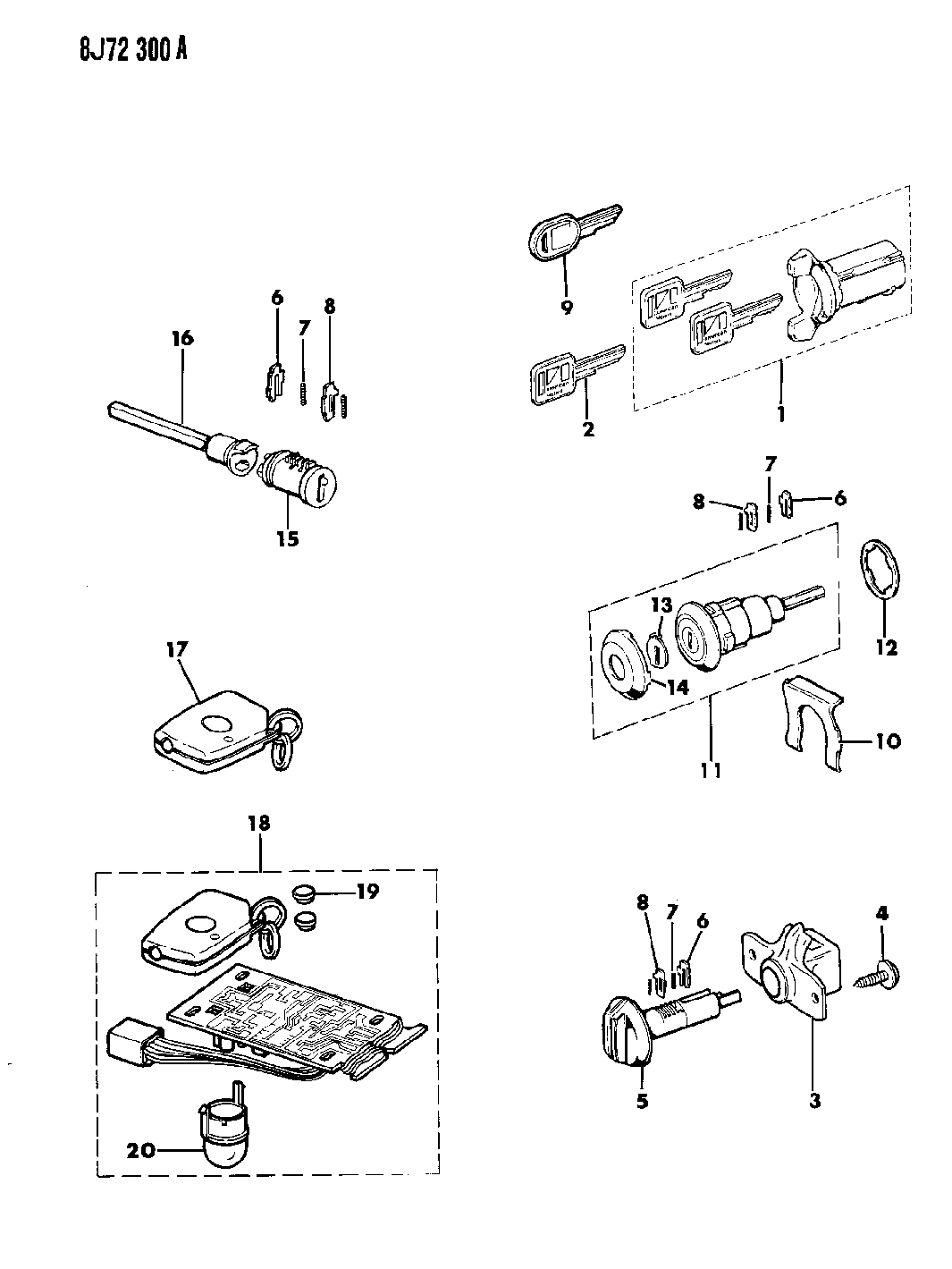 Jeep Grand Wagoneer Cylinders Amp Keys
