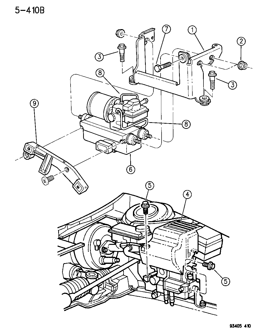 1996 Chrysler Concorde Hydraulic Control Unit Anti-Lock Brakes