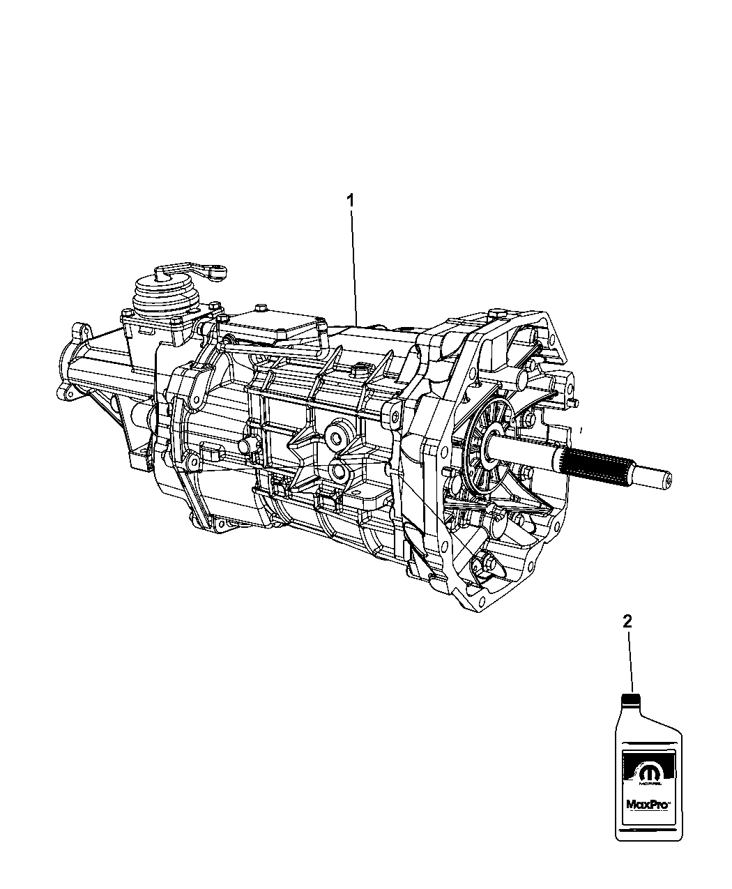 2008 Dodge Viper Transmission / Transaxle Assembly