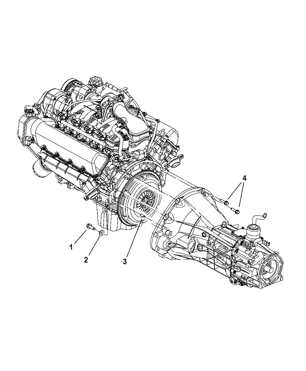 2008 Dodge Ram 1500 Mounting Bolts of Manual Transmission