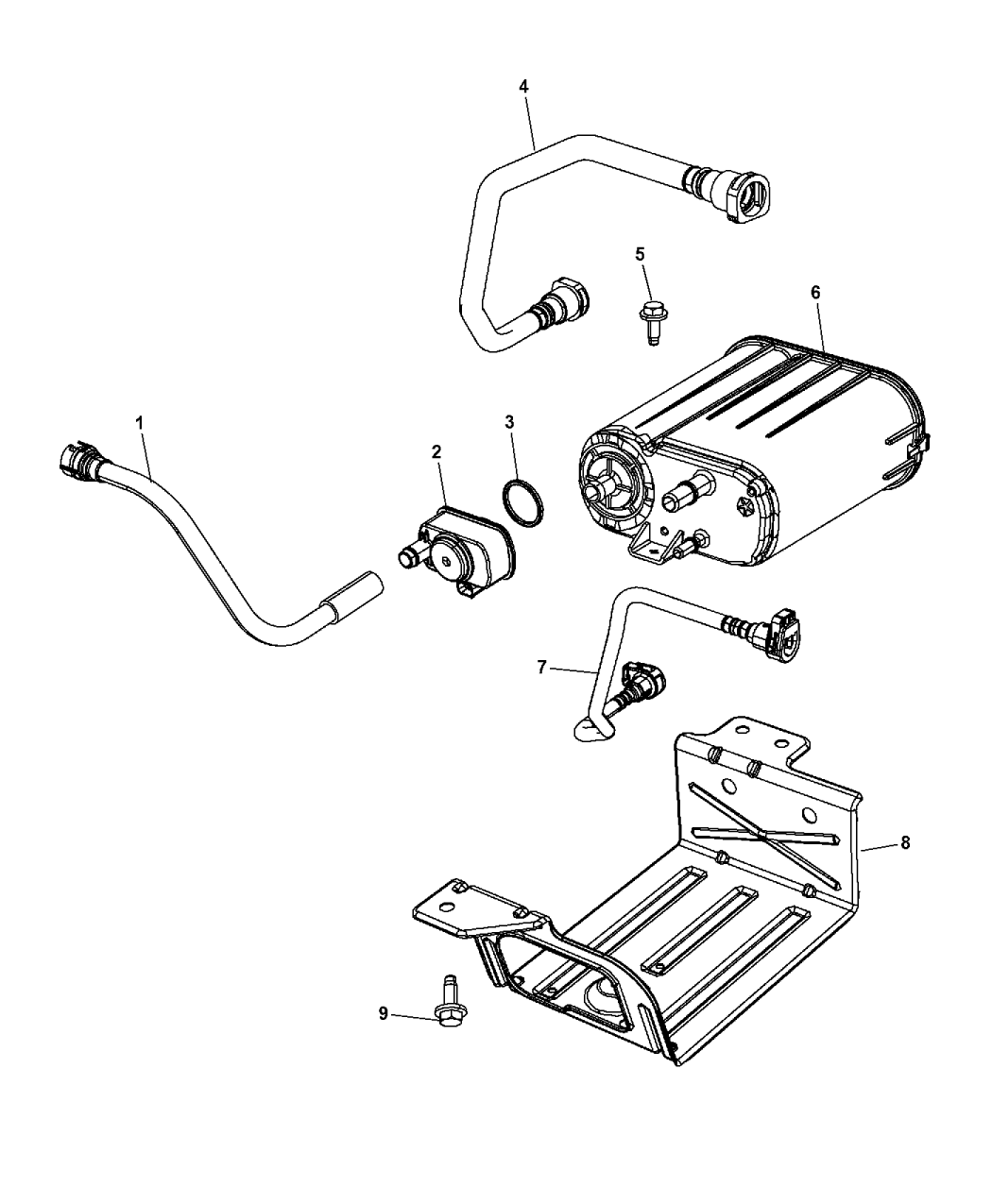 2017 Jeep Wrangler Vapor Canister & Leak Detection Pump