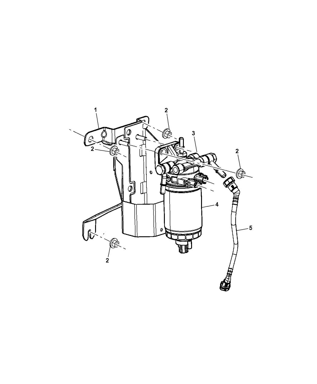 2009 Dodge Nitro Fuel Filter & Water Separator