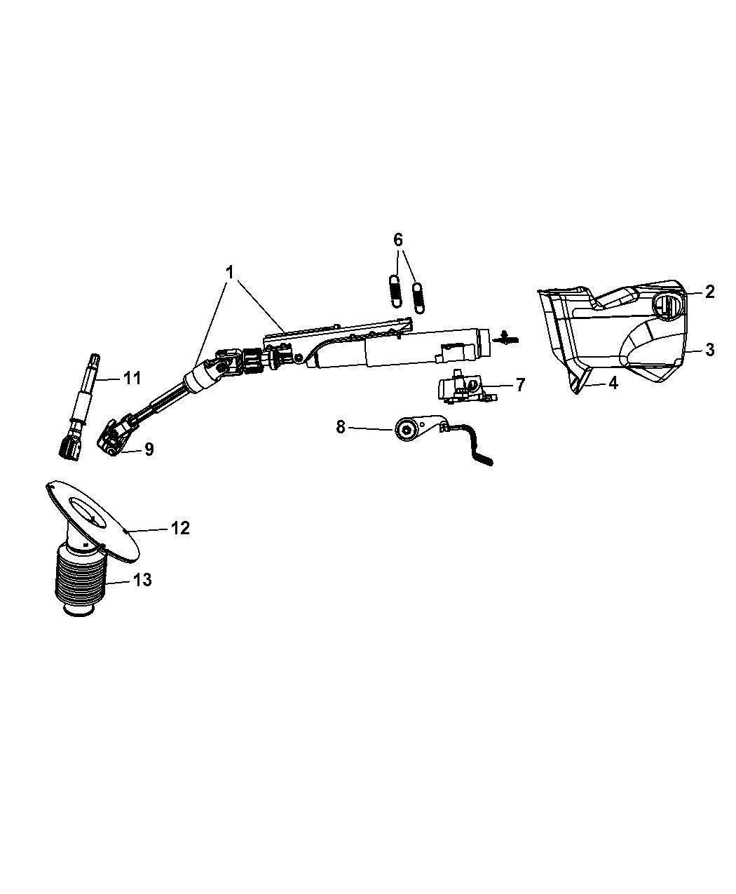 Dodge Grand Caravan Steering Column Assembly