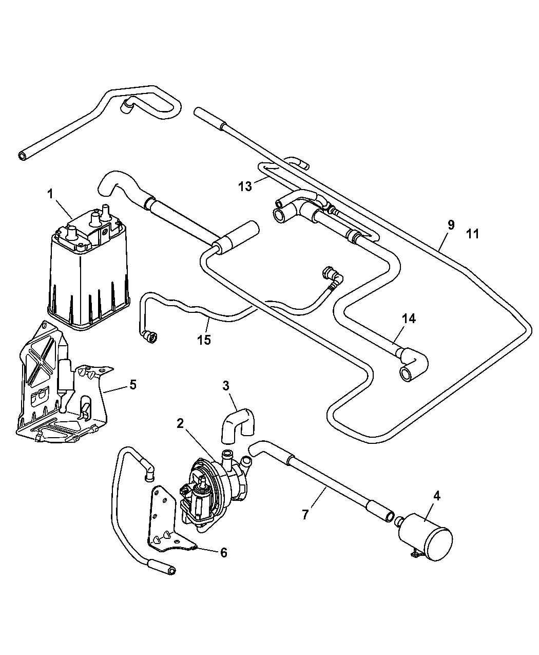 Chrysler Pt Cruiser Vapor Canister Amp Leak Detection Pump