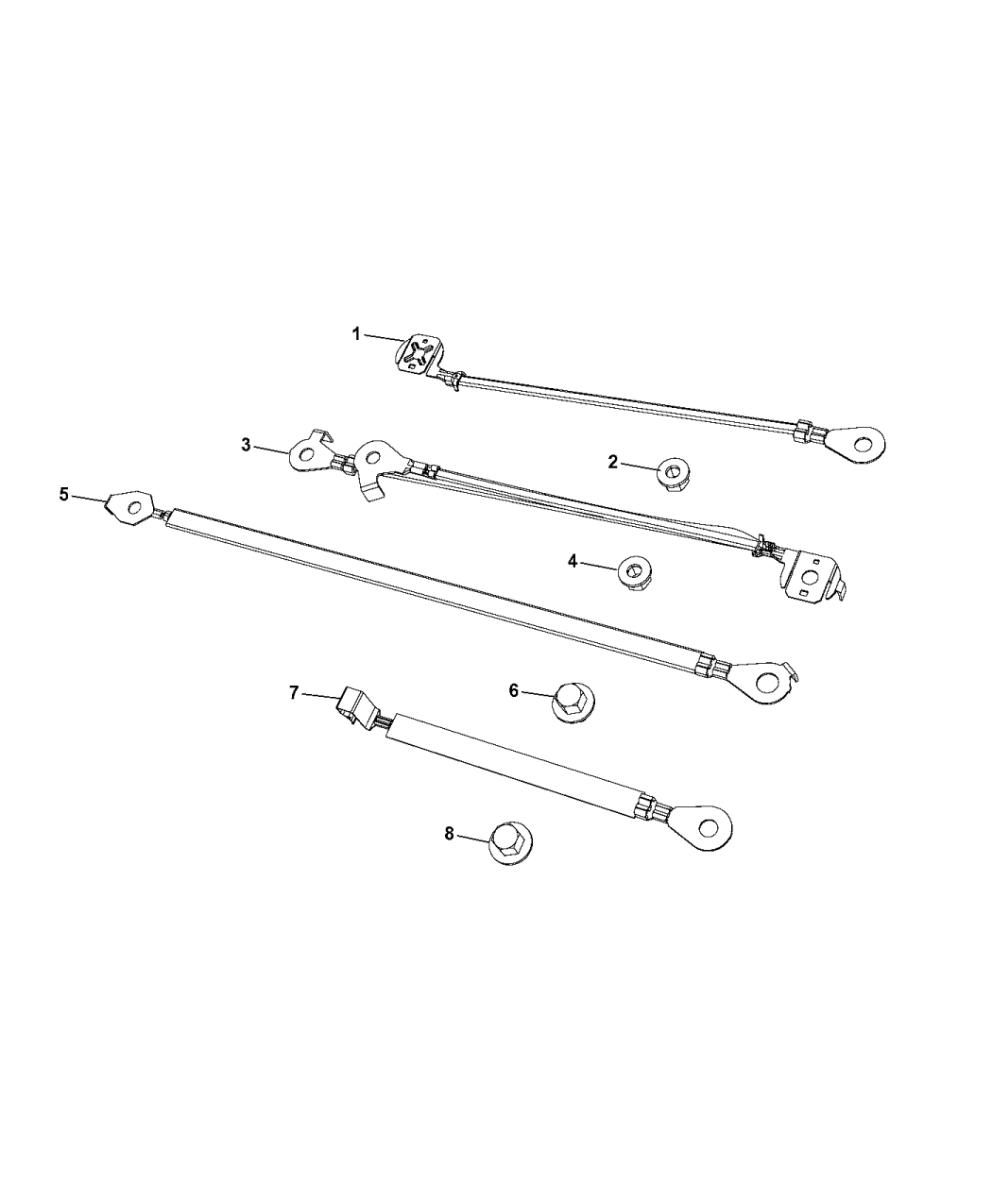 2017 Chrysler Pacifica Straps. Ground, Battery