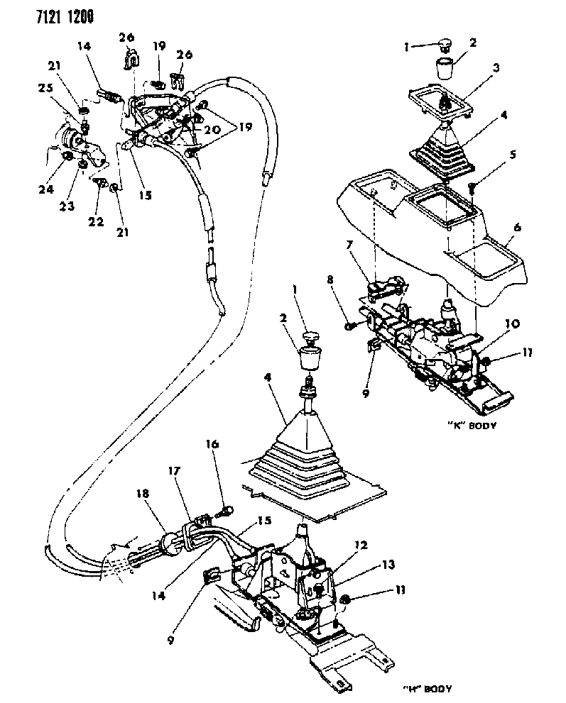 1987 Chrysler Town & Country Controls, Gearshift