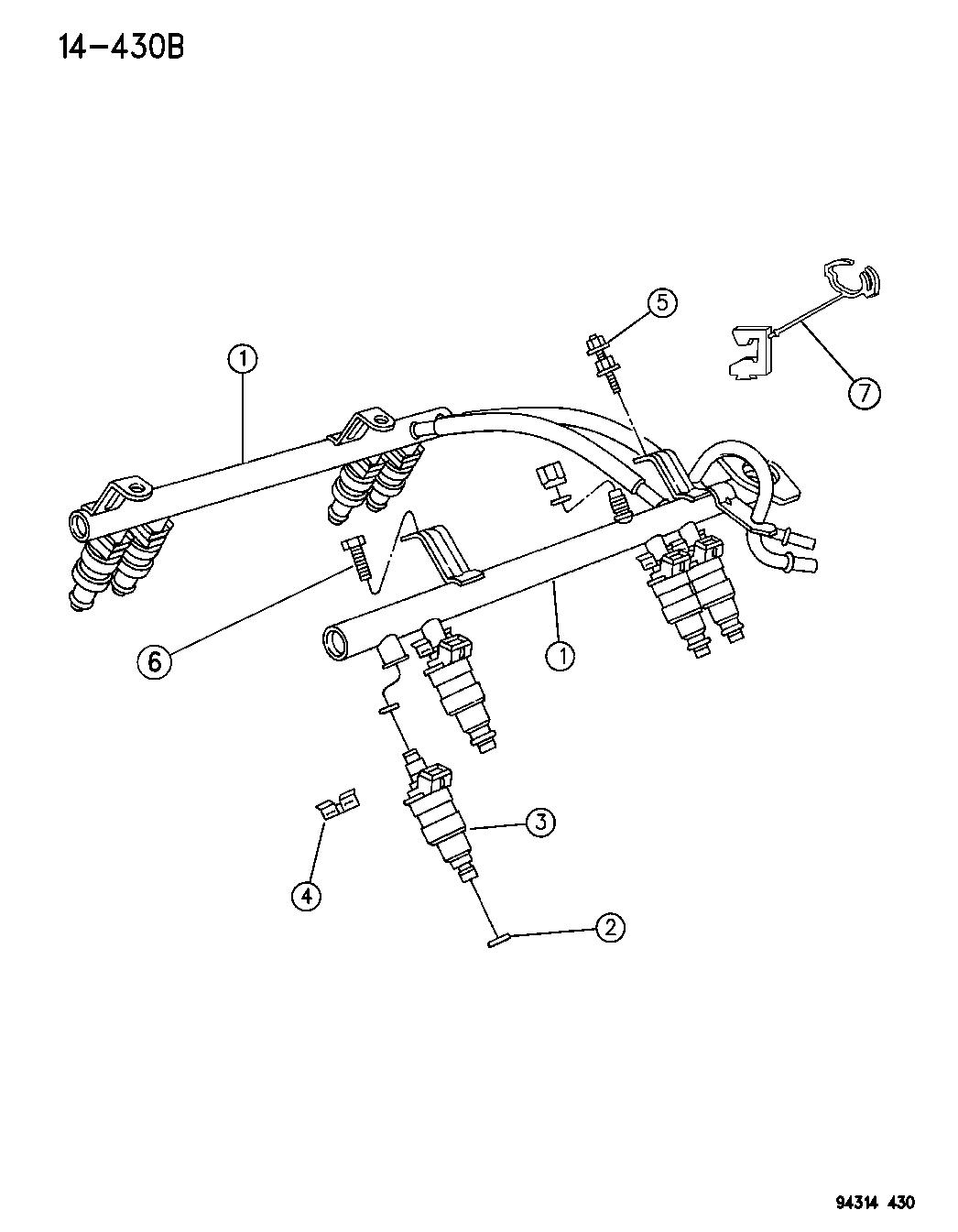 Dodge Ram Fuel Rail