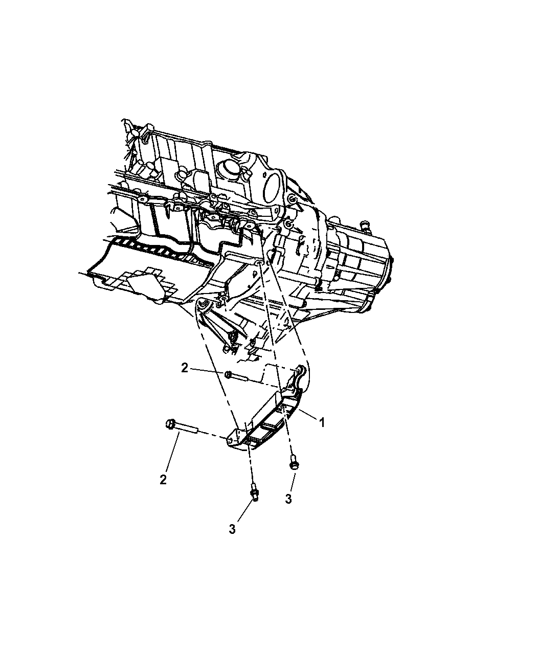 2009 Chrysler PT Cruiser Structural Collar of Manual