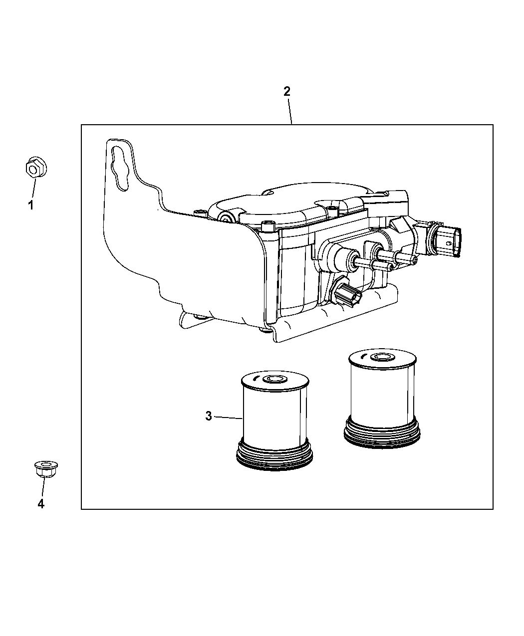 2014 Chrysler 300 Fuel Filter & Water Separator