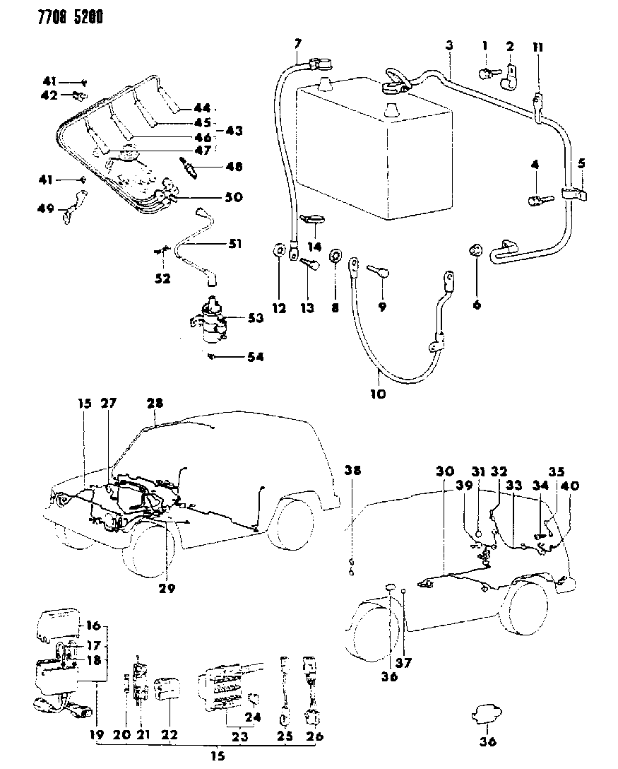 1988 Dodge Raider Wiring Harness of Electrical