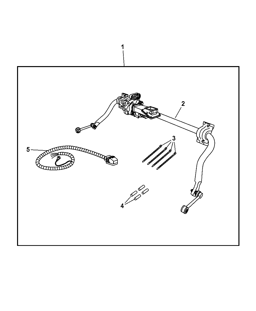 Jeep Wrangler Electronic Stabilizer Bar Kit