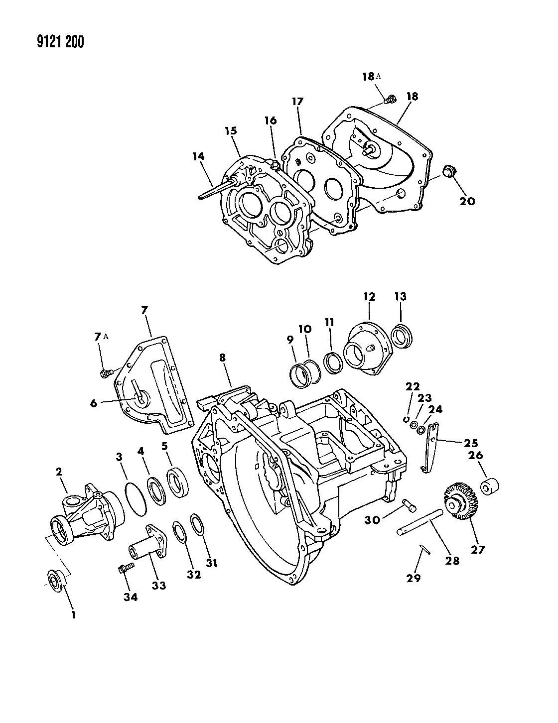 1989 Dodge Daytona Case, Transaxle & Related Parts