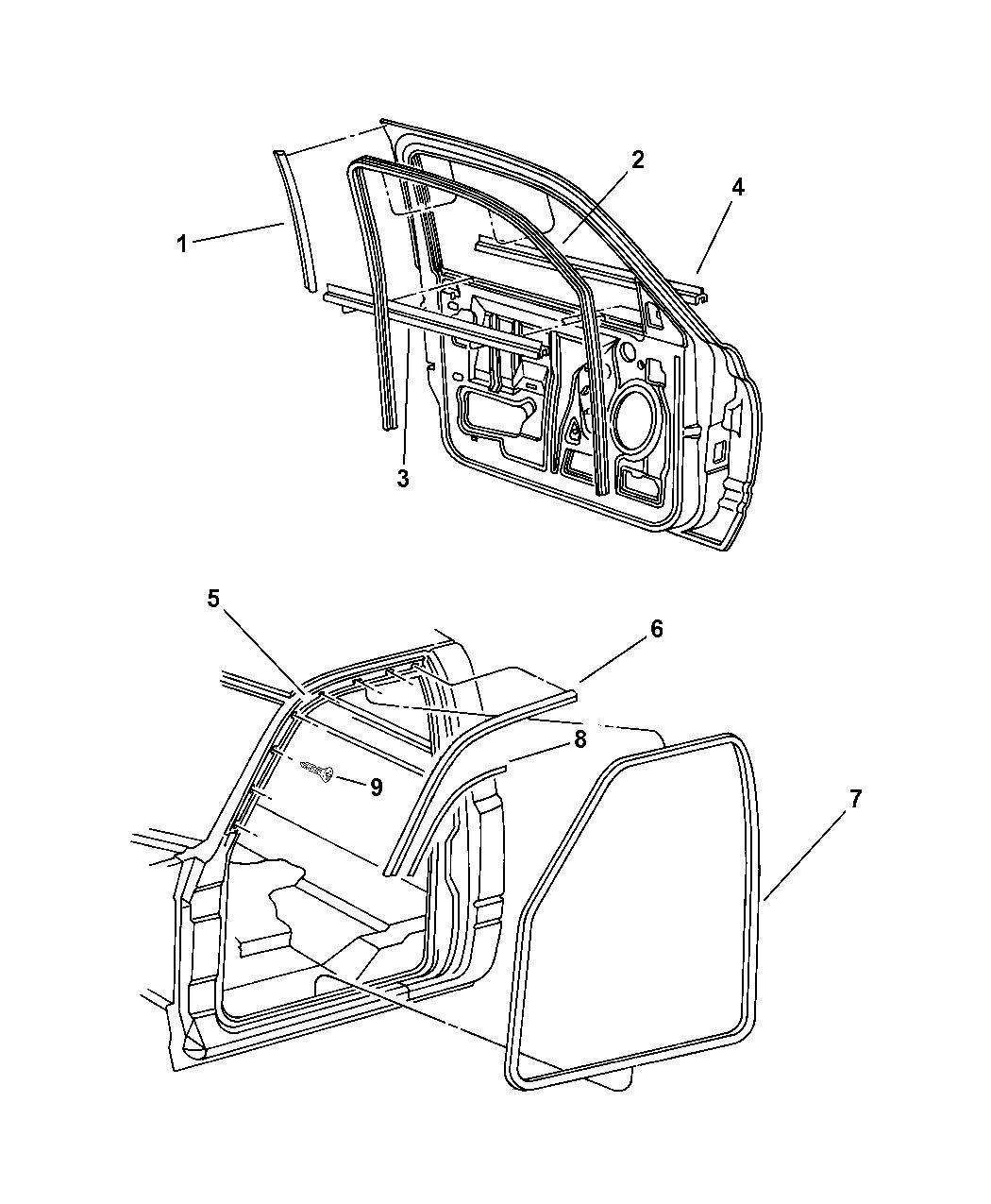 Dodge Ram Door Front Weatherstrips Amp Seal