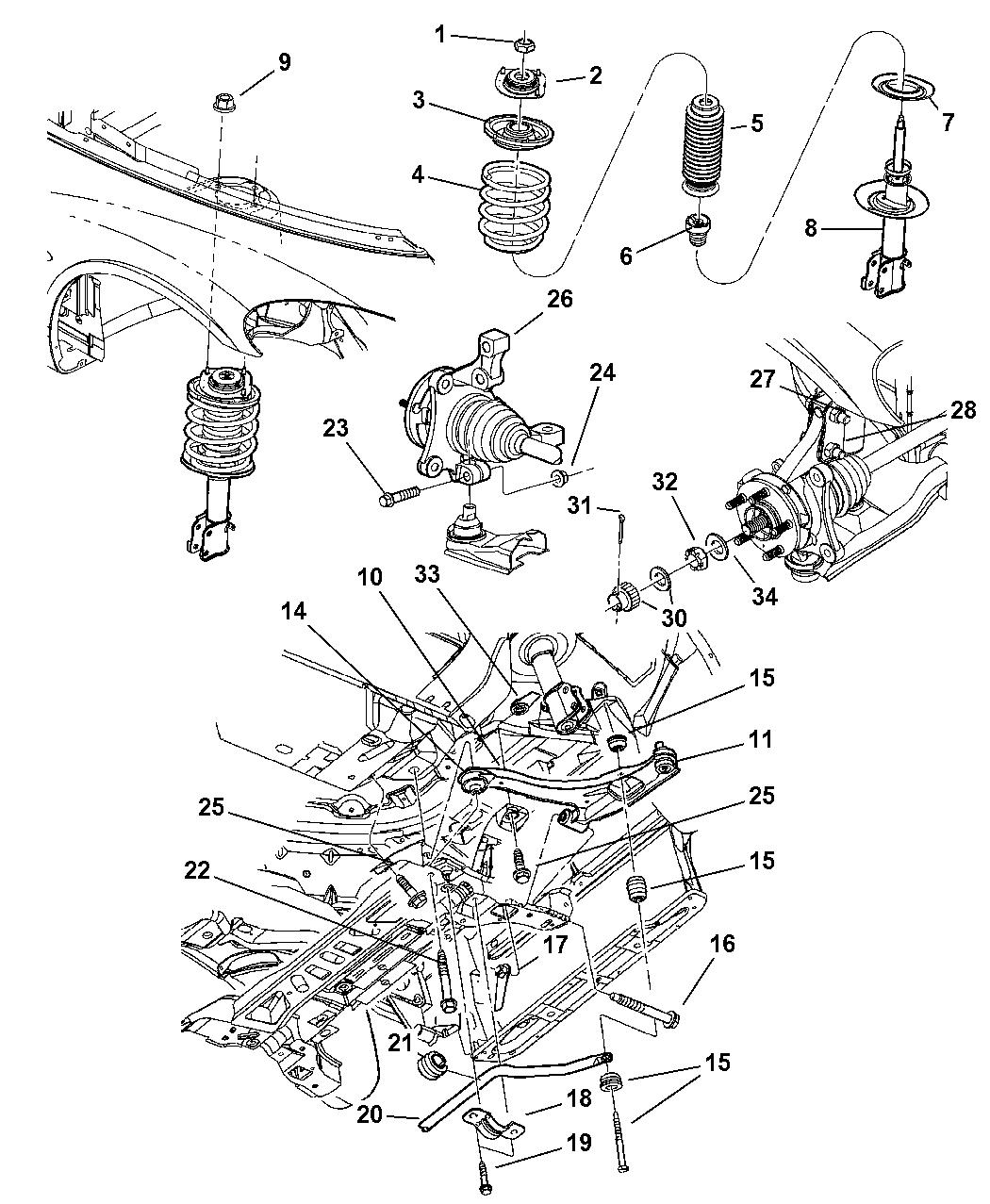 Chrysler Pt Cruiser Suspension