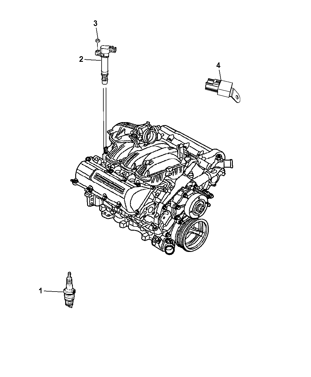 2014 Chrysler Town & Country Spark Plugs, Ignition Coil