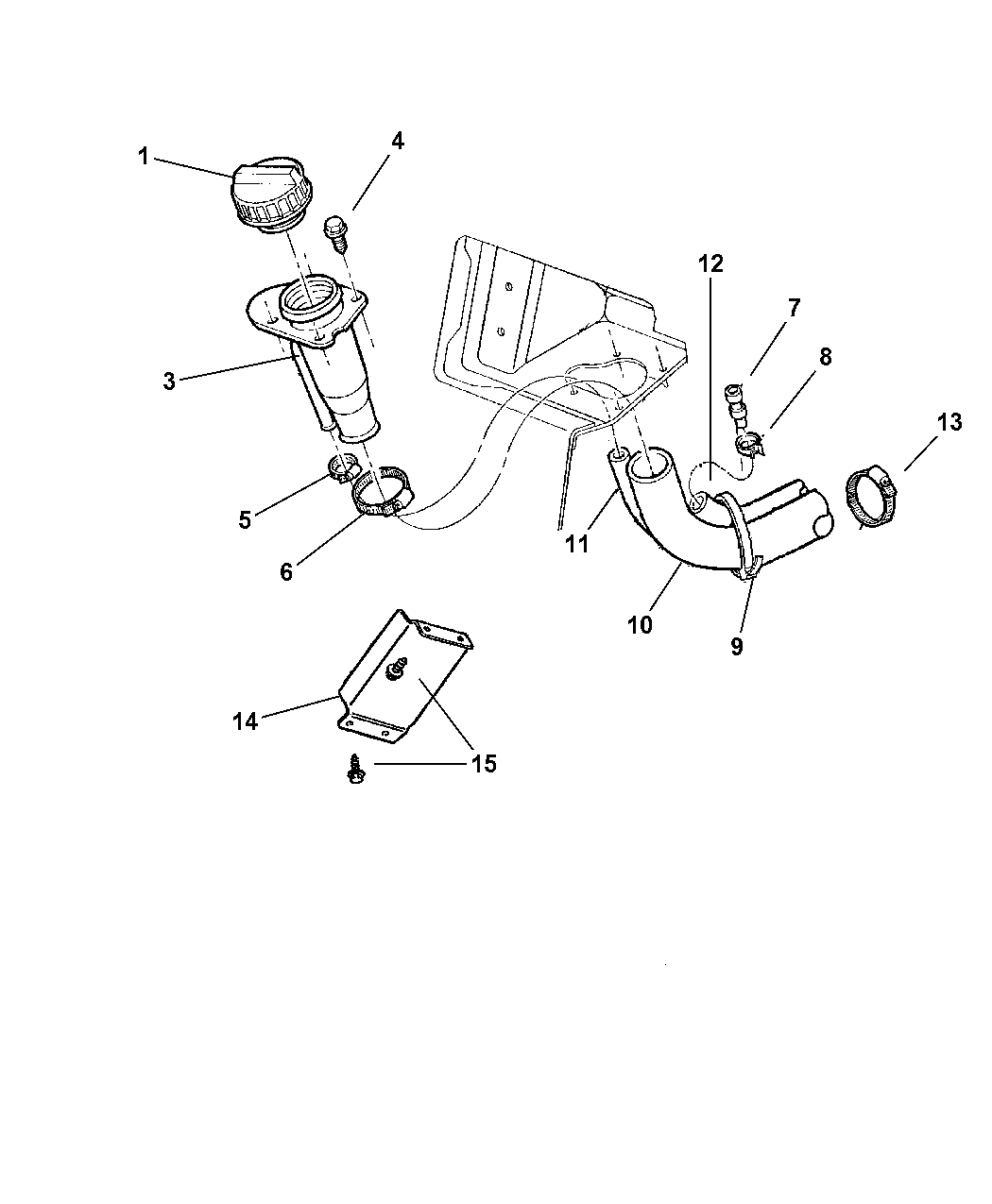 Jeep Cherokee Fuel Tank Filler Tube