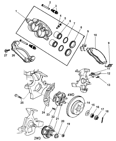 Brakes & Brake Parts Genuine Mopar Brake Bleeder Screw