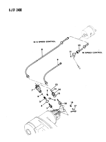 Cable, Speedometer With Pinion And Adapter of Automatic
