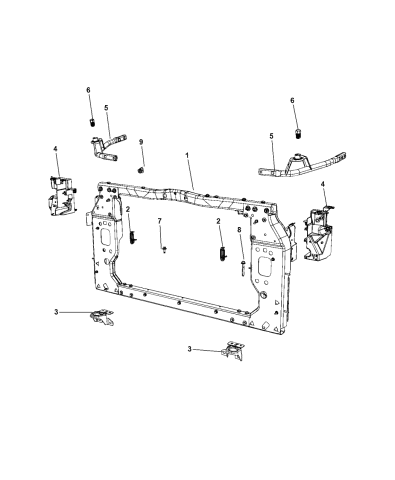 Cooling Systems Genuine Mopar Support Bracket Radiator