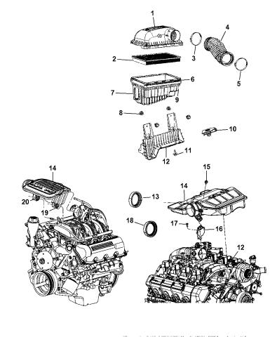 Car & Truck Parts Air Filter Mopar 53004383AB Automotive