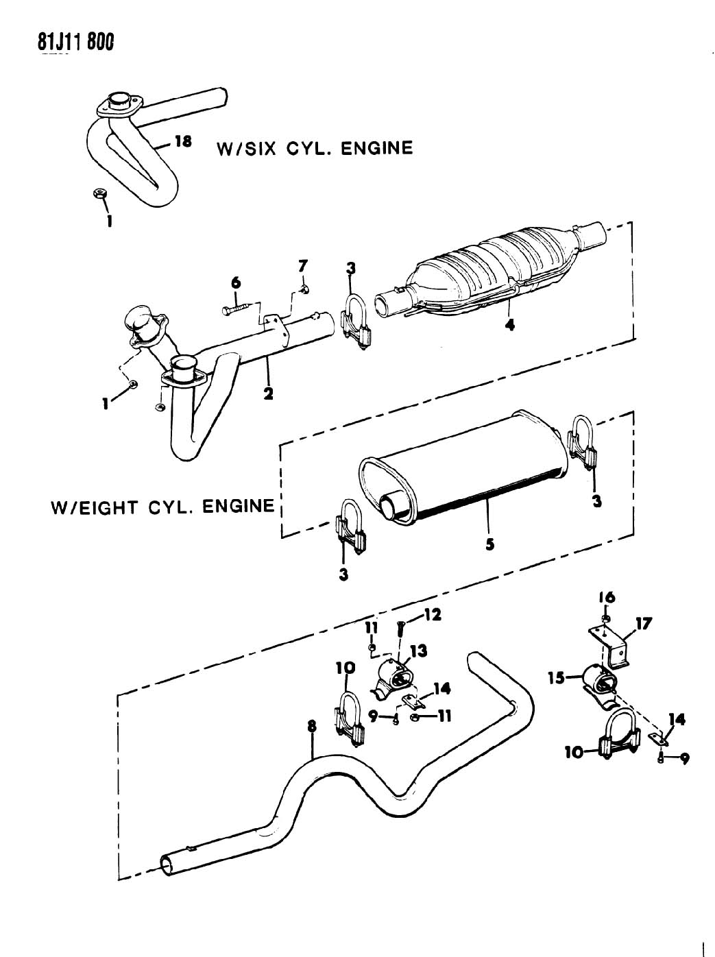 Chrysler Concorde Clamp Exhaust System Engine