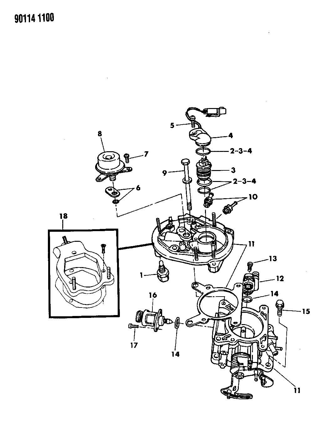Dodge Shadow Motor A I S Body Engine Throttle