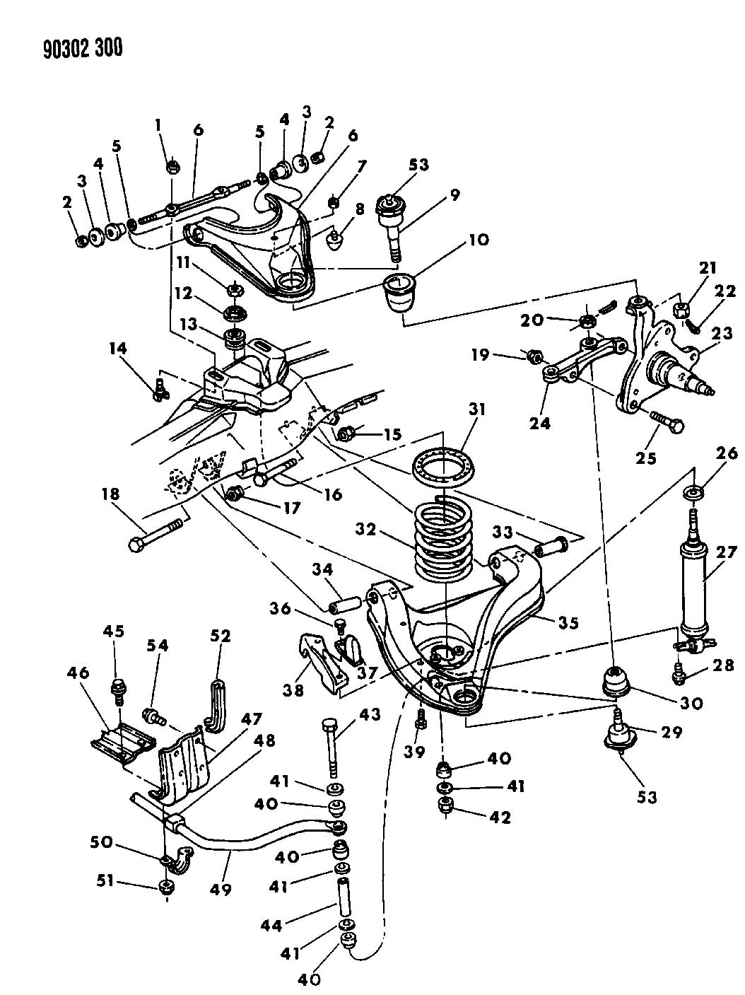 2008 Chrysler Aspen Nut. Mounting, upper control arm. Hex