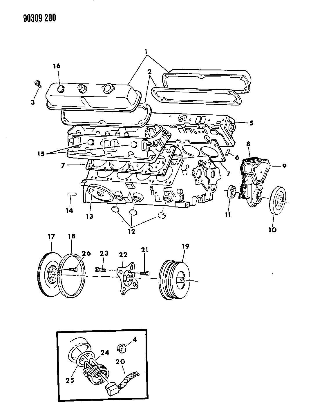 1991 Dodge Dakota Plate, torque converter drive, plate