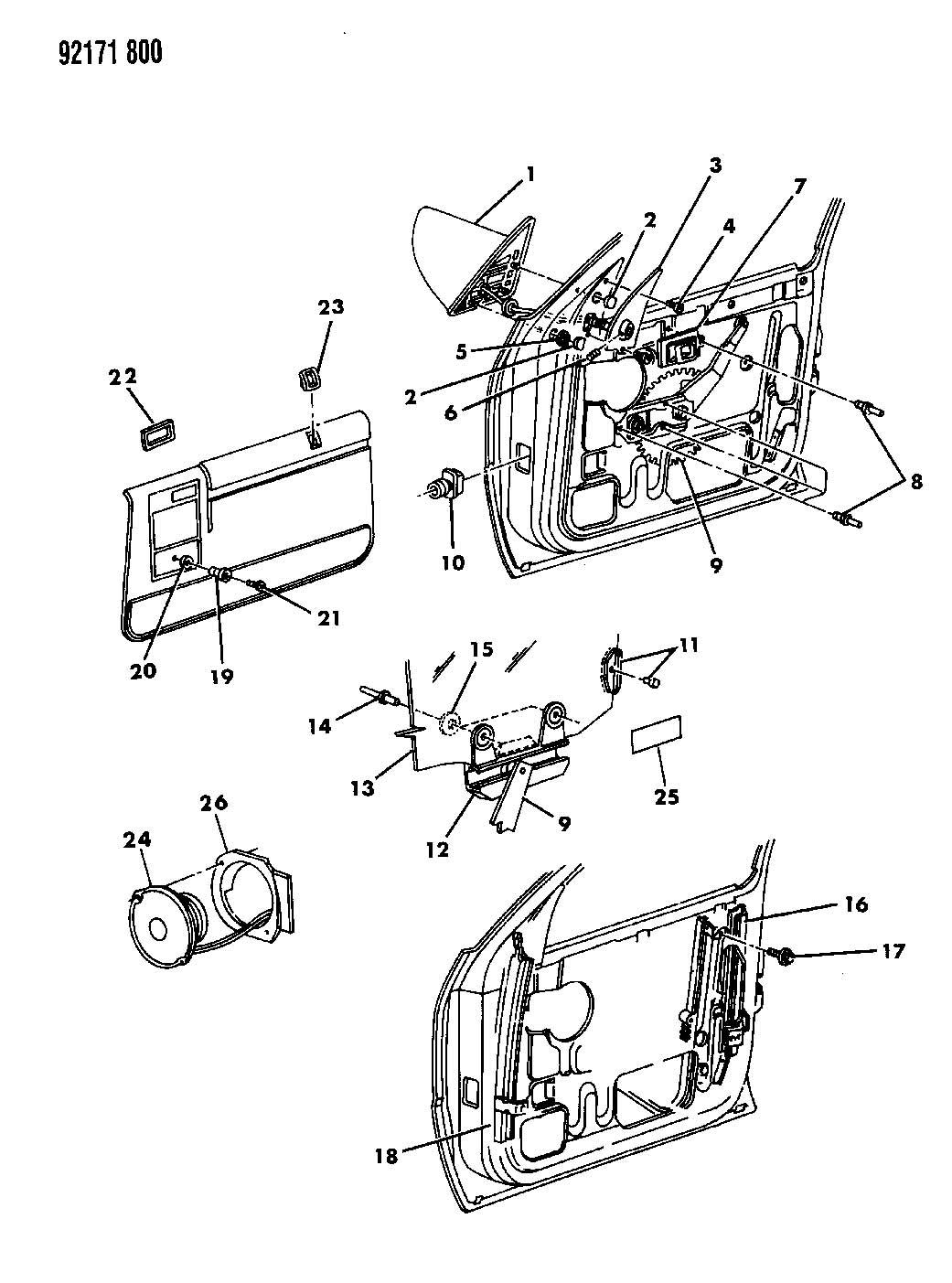 1987 Chrysler LeBaron Bezel, latch control, bezel, r